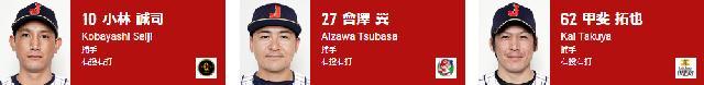侍ジャパン2019捕手一覧