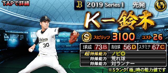 2019Sランク先発K-鈴木
