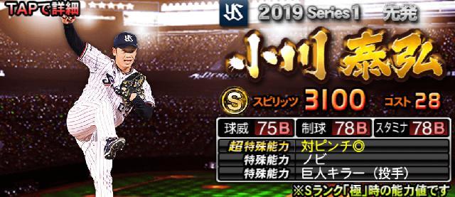2019Sランク評価小川