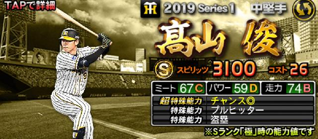 2019野手Sランク高山