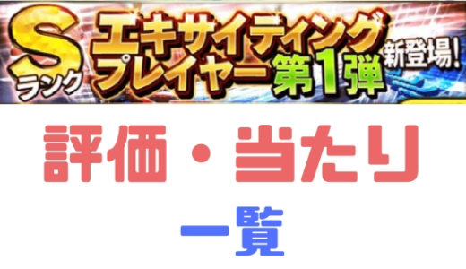 プロスピA-エキサイティング2019第1弾 大当たり3選手確定!