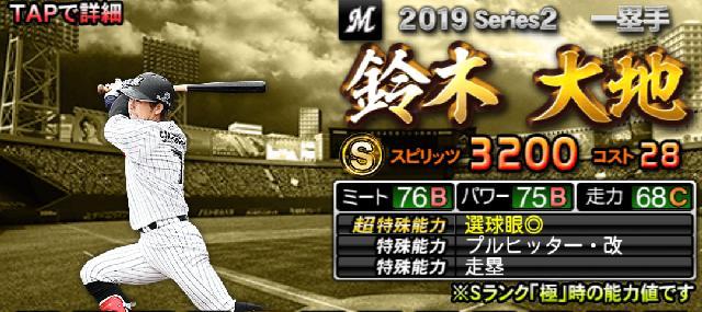 シリーズ2Sランク一塁手鈴木