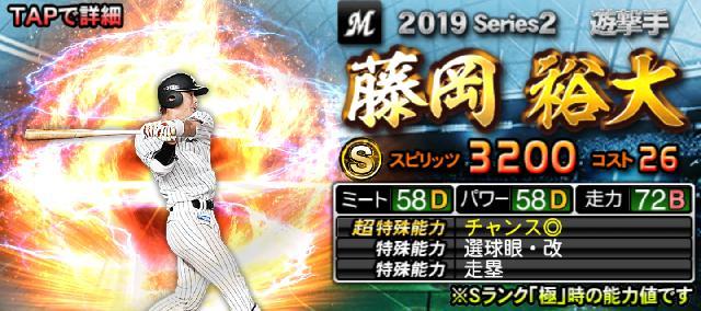 2019シリーズ2Sランク藤岡