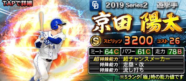 2019シリーズ2Sランク京田