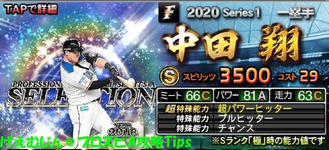 2020セレクション第1弾中田