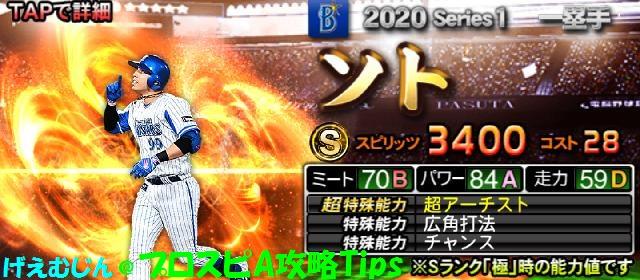 2020Sランク一塁手-ソト