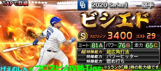 2020Sランク一塁手-ビシエド