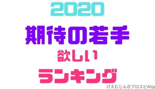 2020期待の若手ランキング