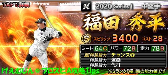 2020Sランク野手福田