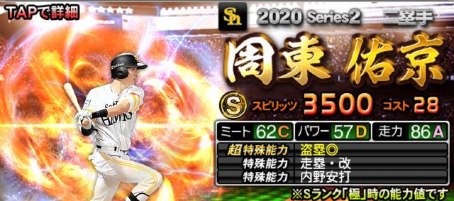 2020Sランク二塁手周東