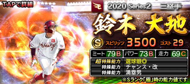 2020シリーズ2Sランク三塁手鈴木