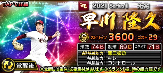 2021覚醒ドラ1早川