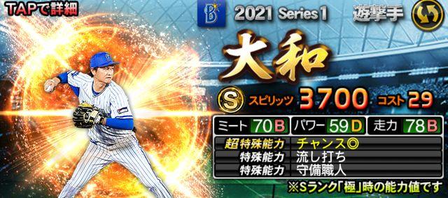 2021シリーズ1遊撃手大和