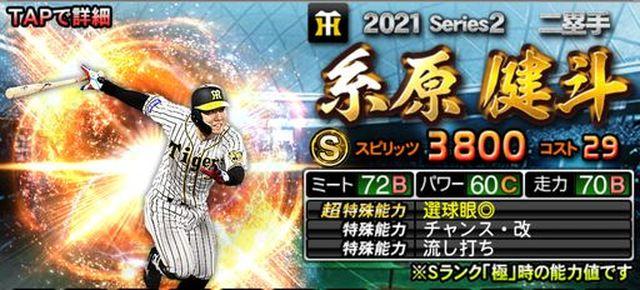 2021シリーズ2二塁手糸原
