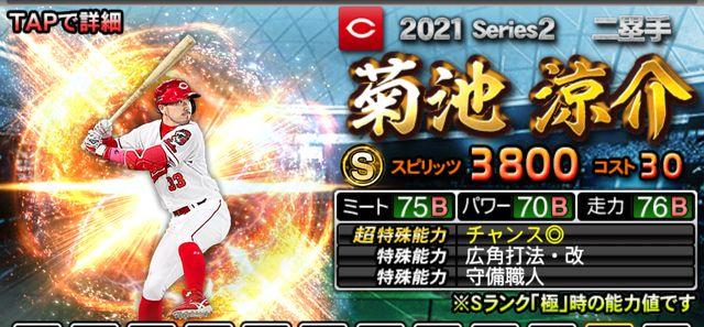 2021シリーズ2二塁手菊池