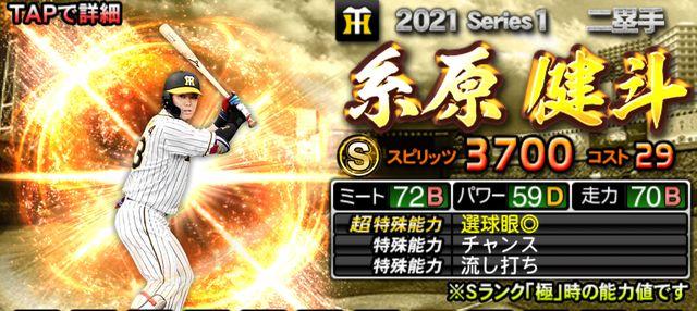 プロスピA2021二塁手糸原