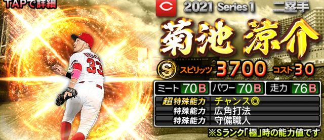 プロスピA2021二塁手菊池