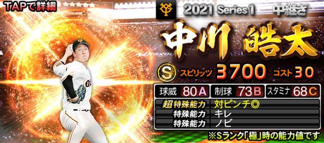 2021シリーズ1中継中川