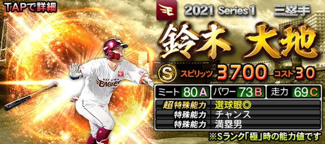 2021シリーズ1三塁手鈴木