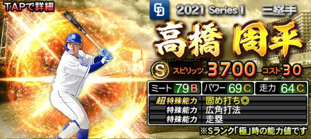 2021シリーズ1三塁手高橋