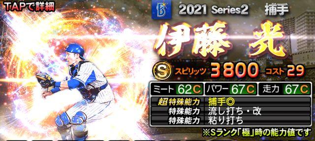 2021シリーズ2捕手評価-伊藤