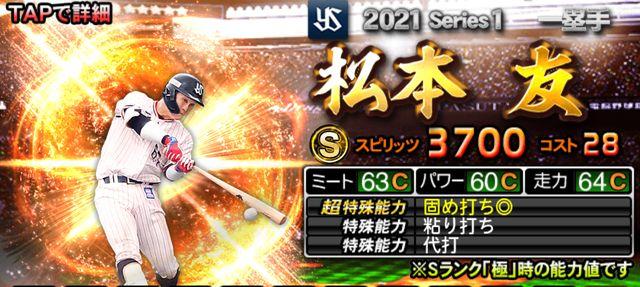 2021シリーズ1野手松本