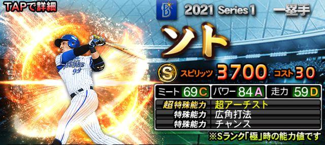 2021Sランク一塁手ソト