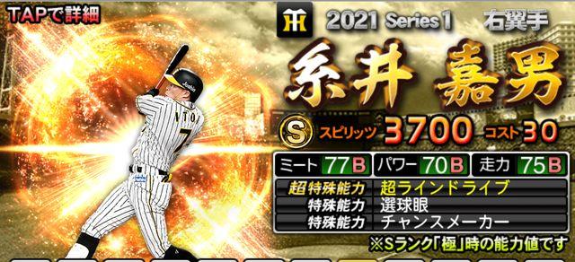 2021シリーズ1野手糸井