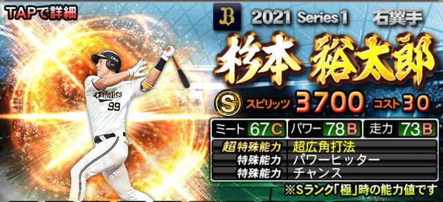 2021シリーズ1右翼手-杉本