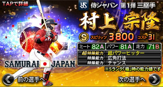 侍ジャパン2021村上
