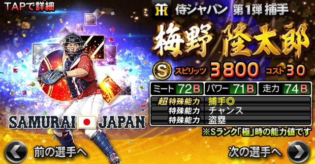 侍ジャパン2021梅野