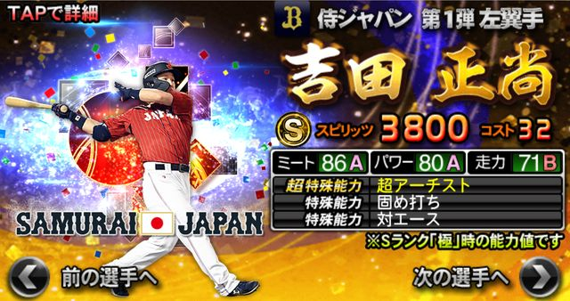 侍ジャパン2021吉田